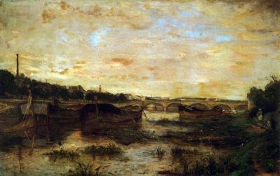 Berthe Morisot The Seine beneath the Pont D'Lena