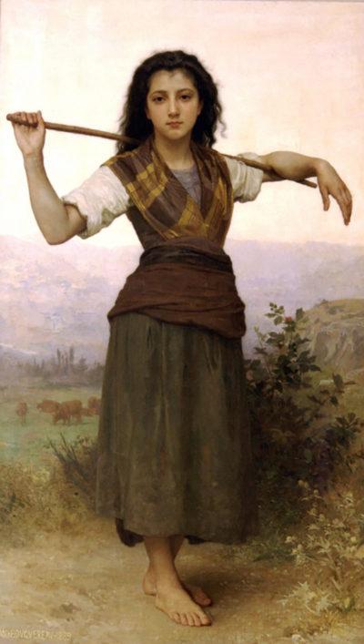 William-Adolphe Bouguereau The Shepherdess