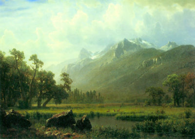 Albert Bierstadt The Sierra near Lake Tahoe
