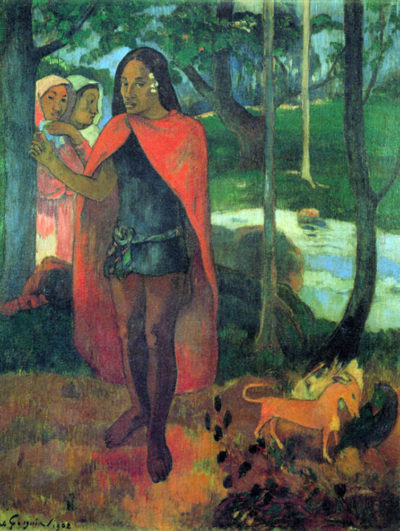 Paul Gauguin The Sorcerer of Hiva-Oa (Marquesan Man In The Red Cape)
