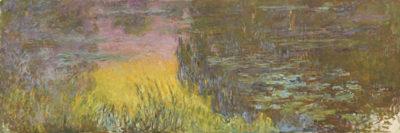 Claude Monet The Water Lillies - Setting sun
