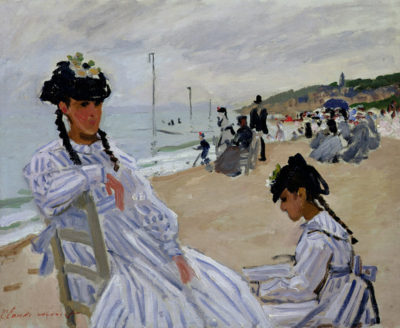 Claude Monet The beach at Trouville
