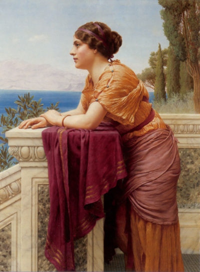 John William Godward The belvedere