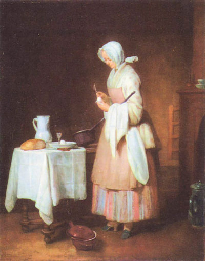 Jean Chardin The caring maid