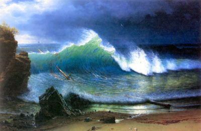 Albert Bierstadt The coast of the Turquoise sea
