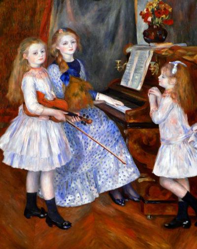 Pierre-Auguste Renoir The daughters of Catulle Mendes