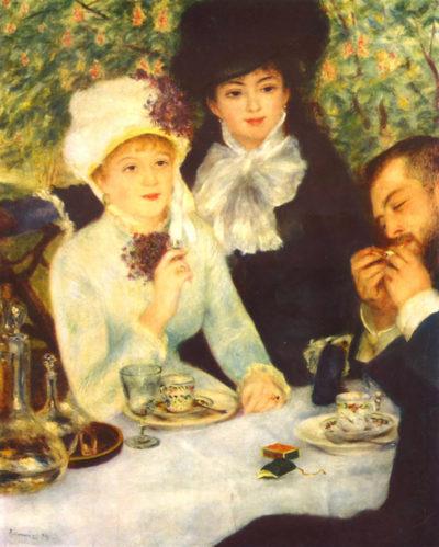 Pierre-Auguste Renoir The end of the breakfast