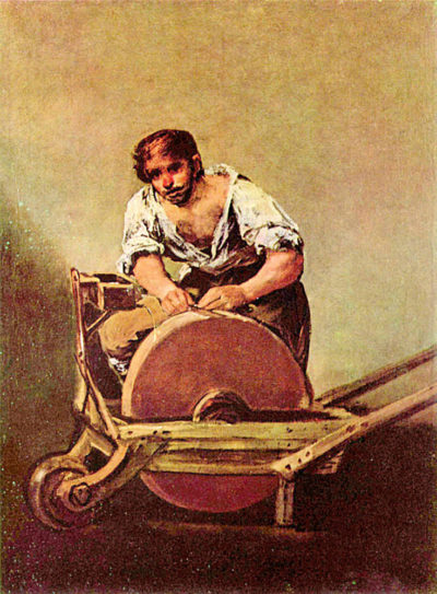 Francisco Goya The grinder
