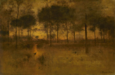 George Inness The home of the Heron