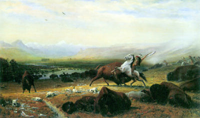 Albert Bierstadt The last Buffalo