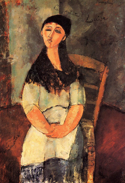 Amedeo Clemente Modigliani The little Louise