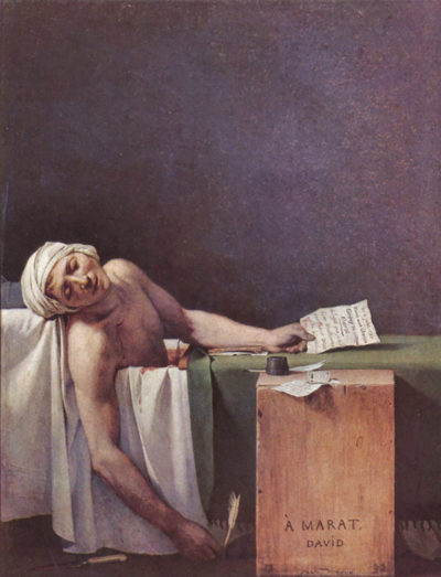 Jacques-Louis David The murdered Marat