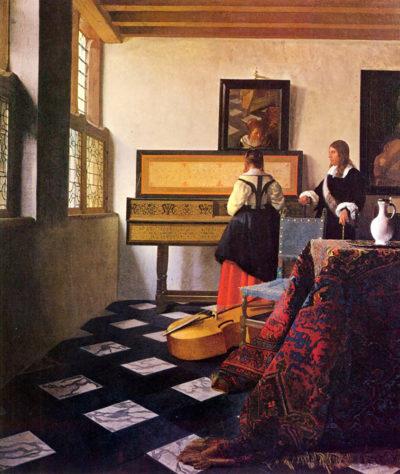 Johannes Vermeer The music lesson