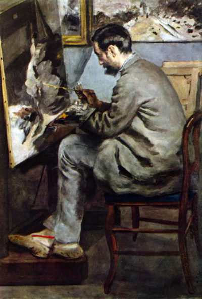 Pierre-Auguste Renoir The painter in the studio of Bazille