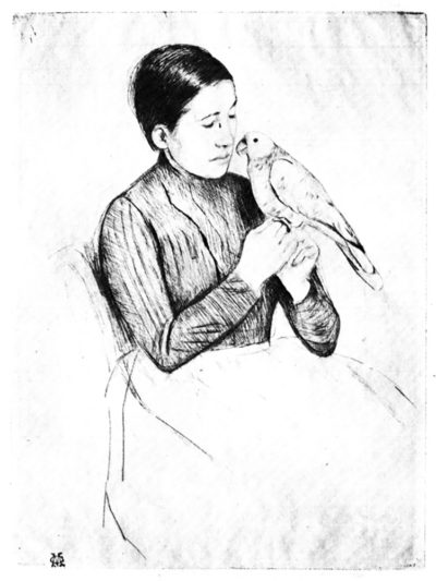 Mary Cassatt The parrot