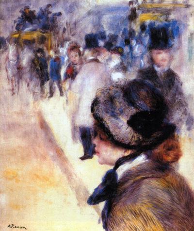 Pierre-Auguste Renoir The place Clichy