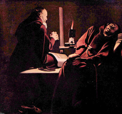 Georges de La Tour The rapture of St. Francis