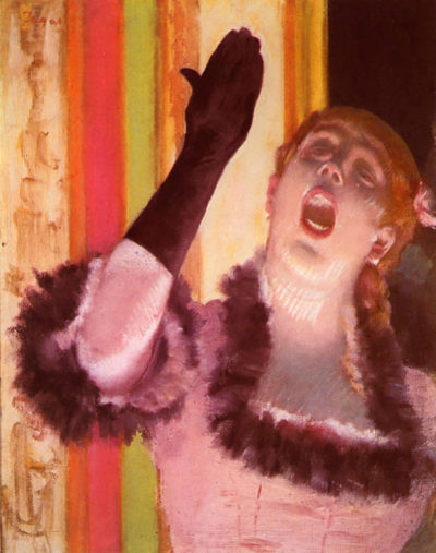 Edgar Degas The singer with the glove