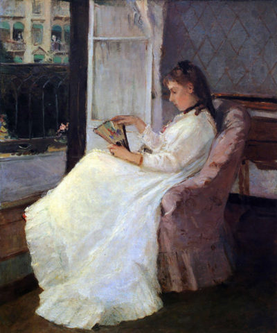 Berthe Morisot The sister of the artist at a window