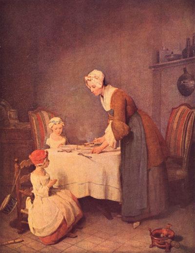Jean Chardin The table prayer