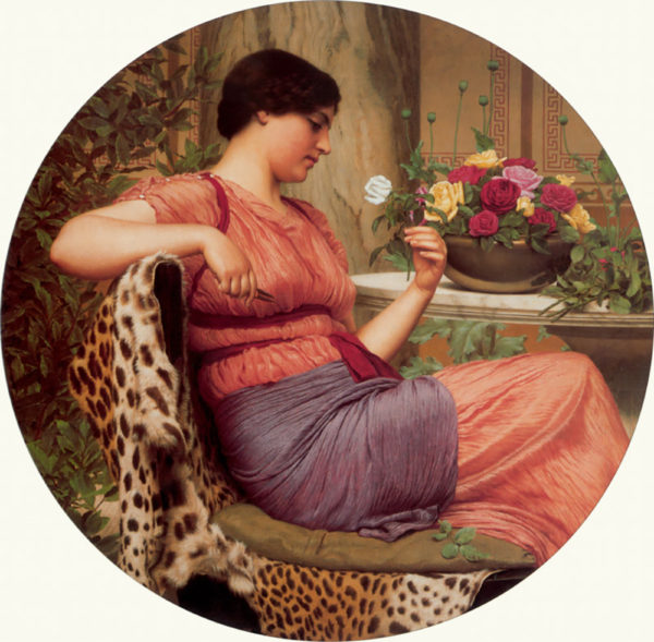 John William Godward The time of roses