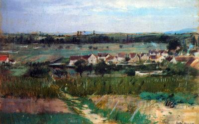 Berthe Morisot The village at Maurecourt