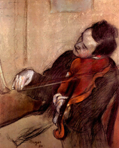 Edgar Degas The violinist