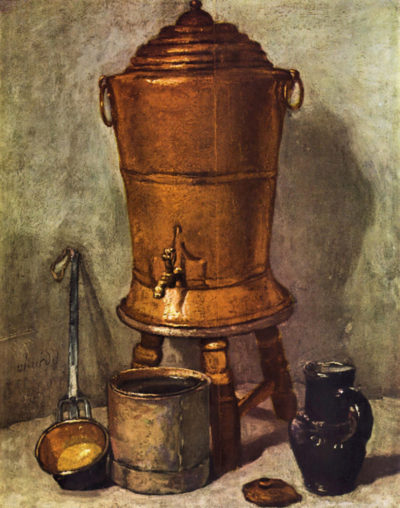 Jean Chardin The water tank