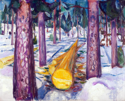 Edvard Munch The yellow log