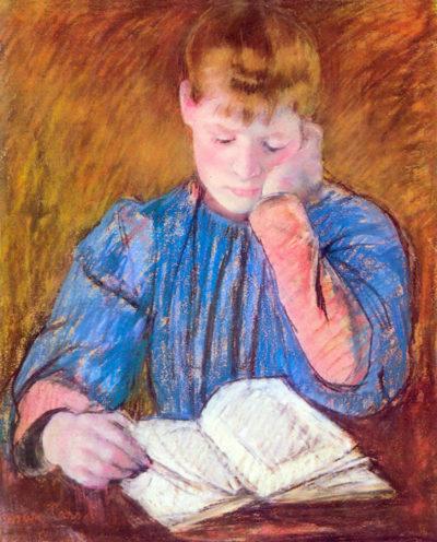 Mary Cassatt Thoughtful reader