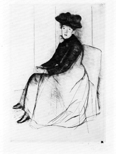 Mary Cassatt Thoughtfully
