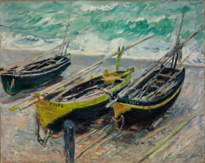 Claude Monet Three Fishing Boats