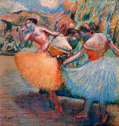 Edgar Degas Three dancers