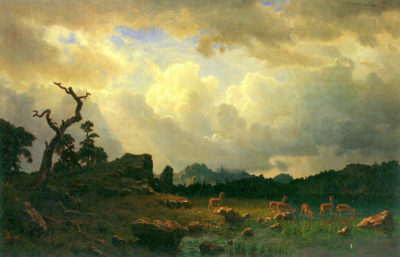 Albert Bierstadt Thunderstorms in the Rocky Mountains