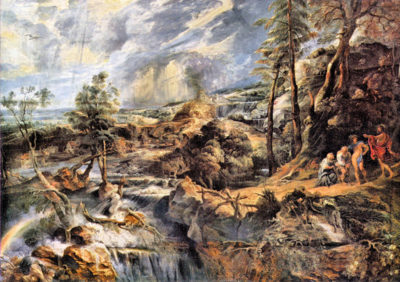 Peter Paul Rubens Thunderstorms landscape with Philemon and Baucis