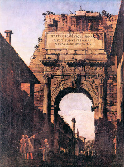Canaletto Titus Arch in Rome