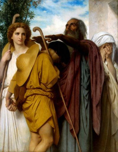 William-Adolphe Bouguereau Tobias Saying Good-Bye to his Father