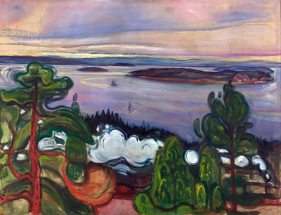 Edvard Munch Train Smoke
