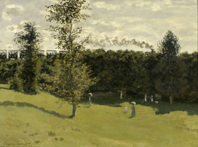 Claude Monet Train in the Countryside