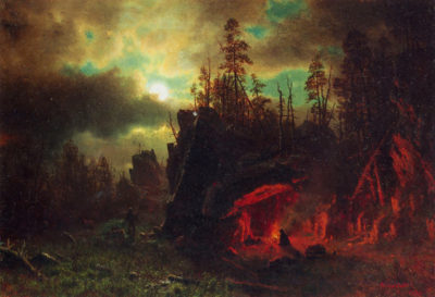 Albert Bierstadt Trapper's camp