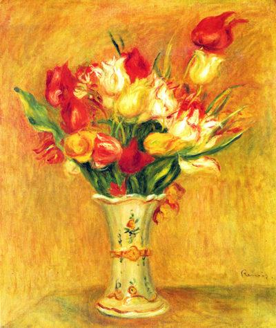 Pierre-Auguste Renoir Tulips in a Vase