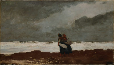 Winslow Homer Two Figures by the Sea
