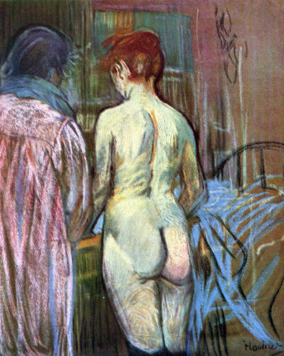 Henri de Toulouse-Lautrec Two Girls from Behind