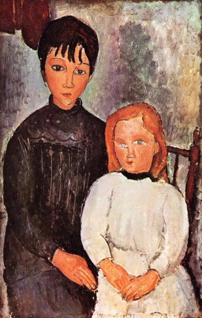 Amedeo Clemente Modigliani Two children