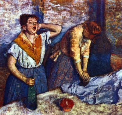 Edgar Degas Two cleaning women
