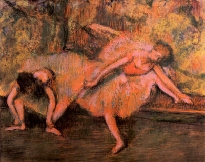 Edgar Degas Two dancers on a bank