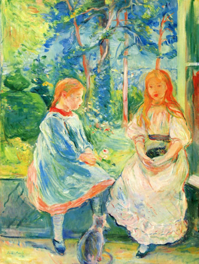 Berthe Morisot Two girls by the window
