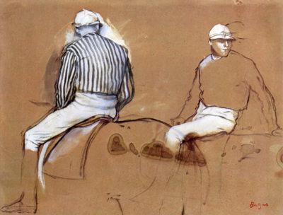Edgar Degas Two jockeys