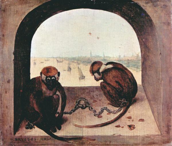 Pieter Bruegel Two monkeys