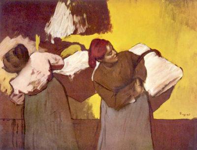 Edgar Degas Two washer women